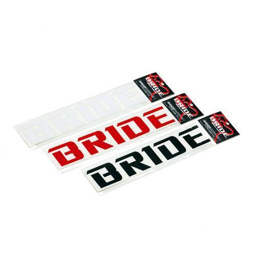 BRIDEロゴカッティングステッカー/ホワイト
